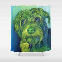 Green George Shower Curtain