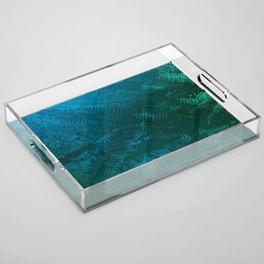 Ferns pattern Acrylic Tray