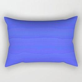Lazy Blue Sky Subtle Rolling Cloud Stripes Rectangular Pillow