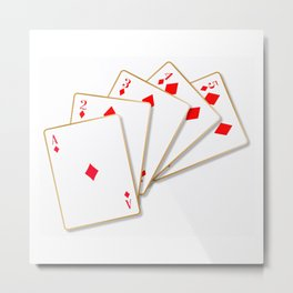 Flush Cards Metal Print