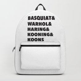 80's modern and pop art list Backpack