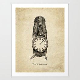A Clockwork Mole Art Print