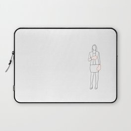 Executive woman with boxing gloves illustration Laptop Sleeve