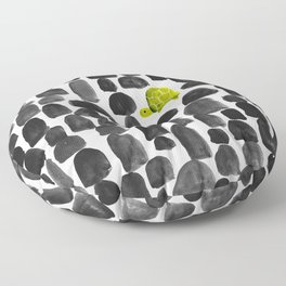 Turtle in Stone Garden Floor Pillow