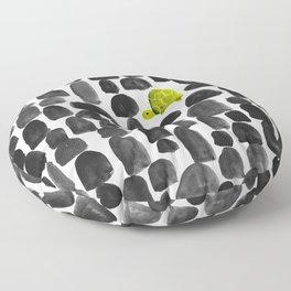 Turtle in Stone Garden Floor Pillow