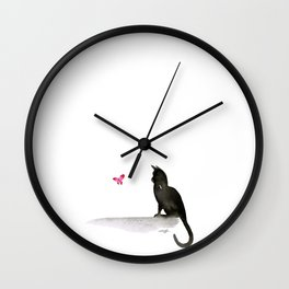 I Love Cats No.4 by Kathy Morton Stanion Wall Clock