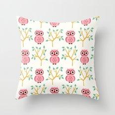 Owl Grove Throw Pillow