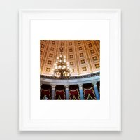 dc Framed Art Prints featuring DC by Good Morning Palmer Lake