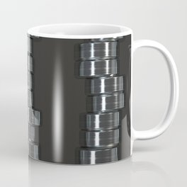 Pattern of brushed metal cylinders Coffee Mug