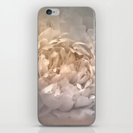 Blushing Silver and Gold Peony - Floral iPhone Skin