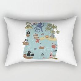 Pirate Treasure Map Rectangular Pillow