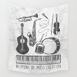 Weapons Of Mass Creation - Music (on paper) Wall Tapestry