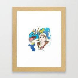 HTTYD   Astrid Framed Art Print