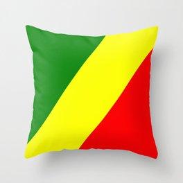 Flag of the Republic of the Congo Throw Pillow