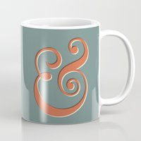 ampersand Mugs featuring Ampersand by Bill Pyle