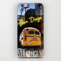 san diego iPhone & iPod Skins featuring SAN DIEGO by MFY ★ design lab