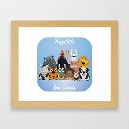 Happy kids Framed Art Print
