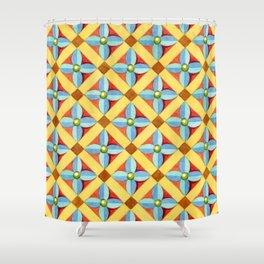 Heraldic Quatrefoil Lozenge Shower Curtain