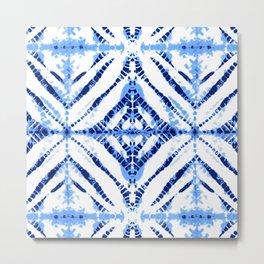 TIE-DYE in BLUE Metal Print