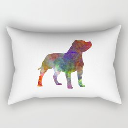 Staffordshire Bull Terrier in watercolor Rectangular Pillow