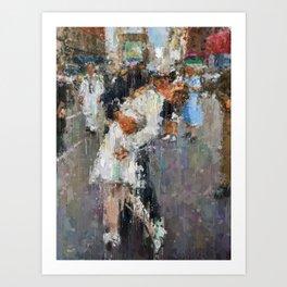World War Kiss Art Print