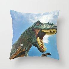 T-Rex Roar Throw Pillow