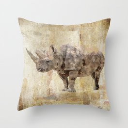 The Biggest Rhino Throw Pillow