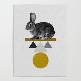 Tribal Rabbit Poster