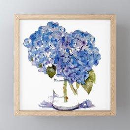 Cape Cod Hydrangea Large Canvas Framed Mini Art Print