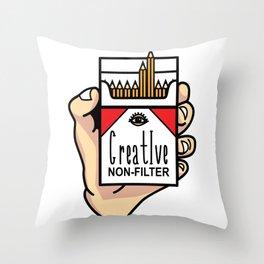 CREATIVE NON-FILTER Throw Pillow