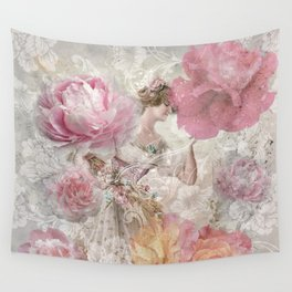 The Floral Lady Wall Tapestry