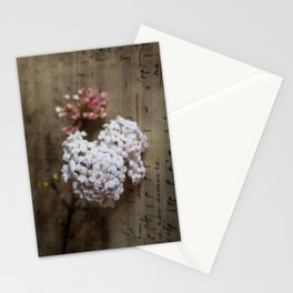 Flowers and music Stationery Cards