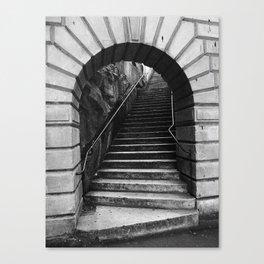 08 Black & White Arch Canvas Print