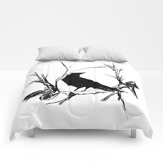 Crow edit version 1 Comforters