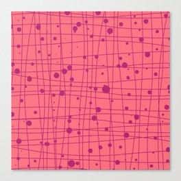 Woven Web pink Canvas Print