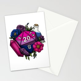 Pride Bisexual D20 Tabletop RPG Gaming Dice Stationery Cards