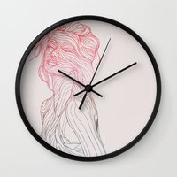 huebucket Wall Clocks featuring Someplace Beautiful by Huebucket