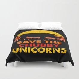 Save The Chubby Unicorns Duvet Cover