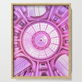 Pink Architecture Monument Serving Tray