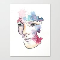 louis tomlinson Canvas Prints featuring Louis Tomlinson by bellavigg