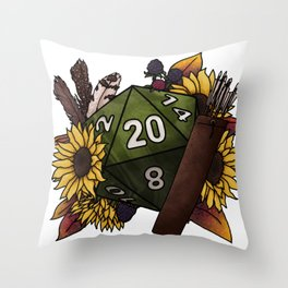 Ranger Class D20 - Tabletop Gaming Dice Throw Pillow