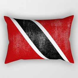 Trinidad and Tobago Distressed Halftone Denim Flag Rectangular Pillow
