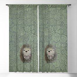 Cute Baby Hedgehog Blackout Curtain