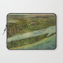 Panoramic view of West Palm Beach, North Palm Beach and Lake Worth, Florida (1915) Laptop Sleeve