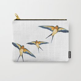 Andorinha Spring Bird - Barn Swallow illustration Carry-All Pouch