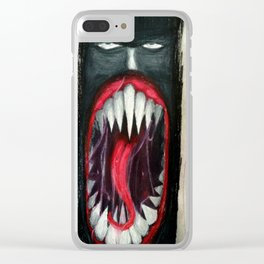 Let The Demon Out (WWE Superstar Finn Balor Drawing) Clear iPhone Case