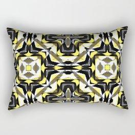 black yellow gray and white geometric Rectangular Pillow