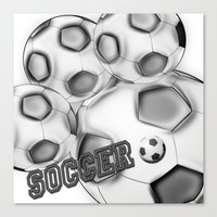 soccer Canvas Prints featuring Soccer  by LoRo  Art & Pictures