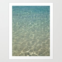 simply clean sea water Art Print