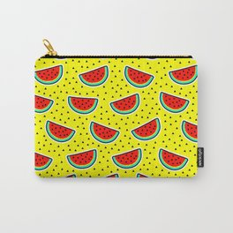 Watermelon on yellow Carry-All Pouch